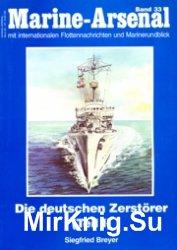 Die Deutschen Zerstorer (I) (Marine-Arsenal 33)