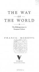 The Way of the World. The Bildungsroman in European Culture