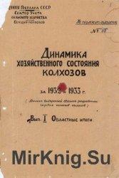 Динамика хозяйственного состояния колхозов за 1932 и 1933 гг. Вып.1