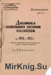 Динамика хозяйственного состояния колхозов за 1932 и 1933 гг. Вып.2