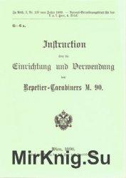Instruction uber die Einrichtung und Verwendung des Repetier-Carabiners M.90