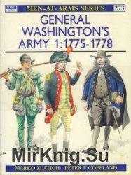Osprey Men-at-Arms 273 - General Washington's Army (1): 1775-1778