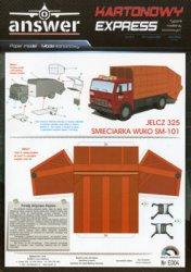 Jelcz 325 Smieciarka WUKO SM-101 [Kartonowy Express № E004 (4/2021)]