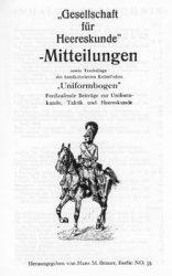 Gesellschaft fur Heereskunde - Mitteilungen №1-24