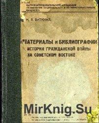 Материалы к библиографии истории гражданской войны на Советском Востоке