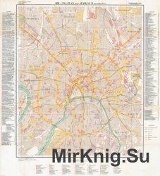 Mil.-Geo.-Plan von Moskau I (gesamtes Stadtgebiet). Mil.-Geo.-Plan von Moskau II (Stadtkern)
