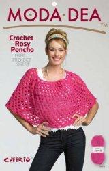 Moda Dea - Crochet rosy poncho