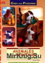 Animales con pompones y fieltro, cuentas, foam, escobillones