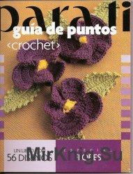 Para ti Guia de Puntos Crochet - Especial flores