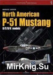 North American P-51 Mustang B,C,D,K models - Kagero Topdrawings 01