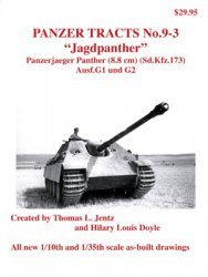 """Jagdpanther"" Panzerjaeger Panther (8.8 cm) (Sd.Kfz.173) Ausf.G 1 und G2 (Panzer Tracts No.09-03)"
