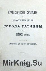 Статистические сведения о населении города Гатчины в 1893 году