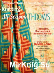 Creative Knitting Presents October 2013: All Season Throws