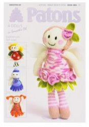 Patons Fairy Flower Dolls Knitting Pattern Booklet 3806