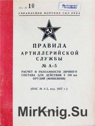 Расчет и обязанности личного состава для действия у 100-мм орудий - Минизин ...