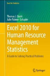 Excel 2010 for human resource management statistics: a guide to solving pra ...