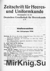 Zeitschrift fur Heeres- und Uniformkunde №157-161