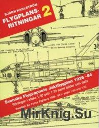Svenska Flygvapnets Jaktflygplan 1926-84 (Flygplansritningar 2)