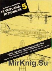 Svenska Flygvapnets Transportflygplan 1926 - 1989 (Flygplansritningar 5)