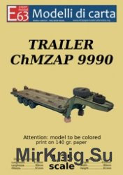 Trailer ChMZAP 9990 (Modelli di carta) модель из бумаги прицепа-тяжеловоза  ...