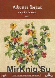 Arbustes floraux au point de croix