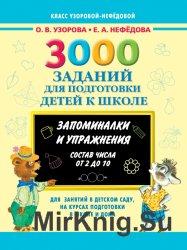 3000 заданий для подготовки детей к школе. Раскрась и запомни. Состав числа ...