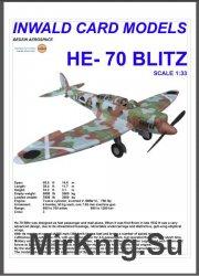 Легкий разведчик-бомбардировщик Heinkel He-70 Blitz [Inwald Card Models]