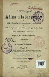 Atlas historyczny do dziejów starożytnych, średniowiecznych  ...