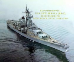 Recommissioning USS New Jersey (BB-62)