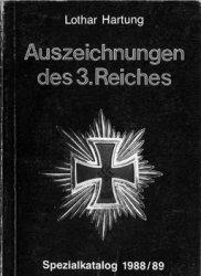 Auszeichnungen des 3. Reiches: Spezialkatalog 1988/89