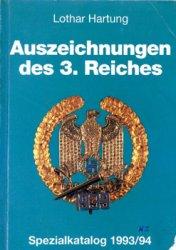 Auszeichnungen des 3. Reiches: Spezialkatalog 1993/94