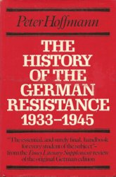 The History of the German Resistance, 1933-1945