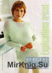Bergere de France. Explications Tricot 2000/2001