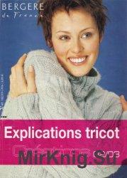 Bergere de France. Explications Tricot 2002/2003