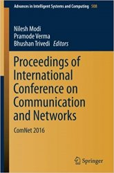 Proceedings of International Conference on Communication and Networks: ComNet 2016