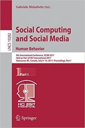 Social Computing and Social Media. Human Behavior (Part 1)