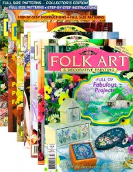Folk Art & Decorative Painting (18 issues) 1995-2004