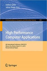 High Performance Computer Applications: 6th International Conference, ISUM 2015