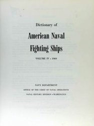 Dictionary of American Naval Fighting Ships vol IV