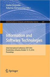 Information and Software Technologies: 22nd International Conference, ICIST 2016