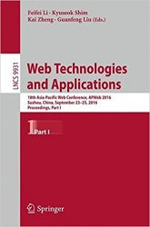 Web Technologies and Applications: 18th Asia-Pacific Web Conference, APWeb 2016, Part I