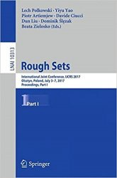 Rough Sets: International Joint Conference, IJCRS 2017, Part 1