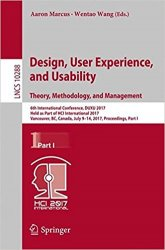 Design, User Experience, and Usability: Theory, Methodology, and Management 6th International Conference, DUXU 2017 part 1