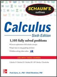 Schaum's Outline of Calculus: 1,105 Solved Problems, 6th Edition