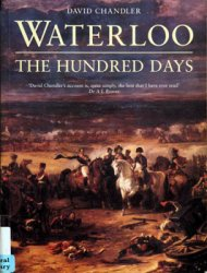 Waterloo, The Hundred Days (Osprey General Military)