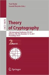 Theory of Cryptography: 15th International Conference, TCC 2017, Part 2