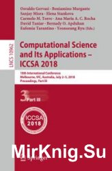 Computational Science and Its Applications - ICCSA 2018, Part 3