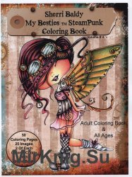 Sherri Baldy My Besties TM Steampunk Coloring Book