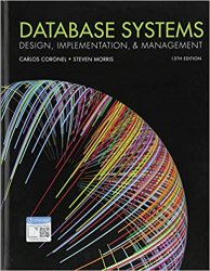 Database Systems: Design, Implementation, & Management, 13th Edition